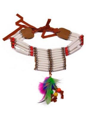 American Indian Beaded Costume Necklace