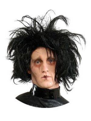 Edward Scissorhands Men's Black Costume Wig