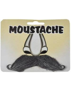 Stick On Novelty Curled Grey Moustache Costume Accessory