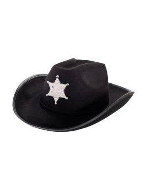 Feltex Black Deputy Sheriff Cowboy Hat Costume Accessory