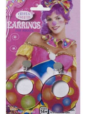 Circus Sweetie Women's Costume Earrings
