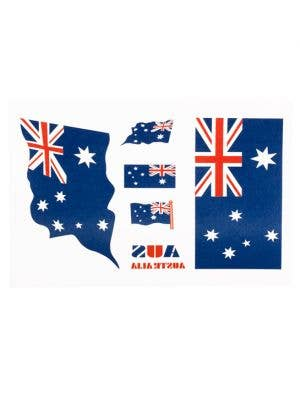 Aussie Flag Blue Australia Day Temporary Tattoos