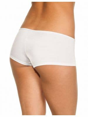Lycra Women's Booty Shorts in White