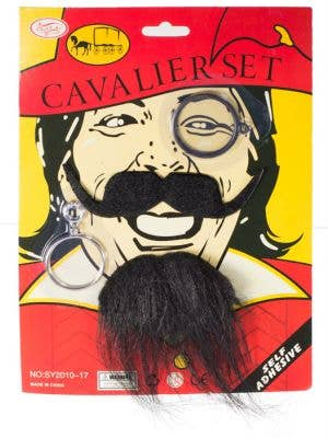 Pirate Cavalier Earring and Goatee Set