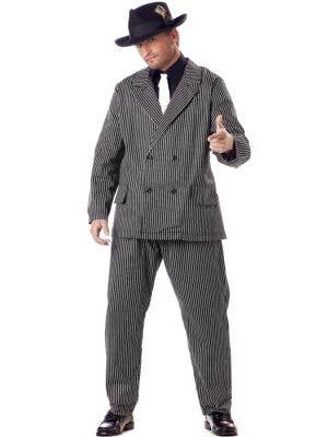 1920's Men's Plus Size Gangster Costume