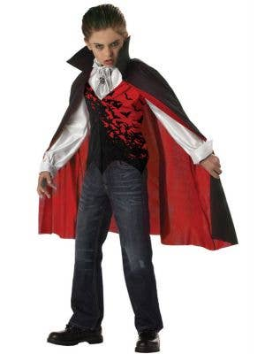 Dracula Boy's Vampire Halloween Monster Costume Front