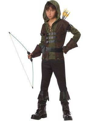 Boy's Robin Hood Wood Archer Book Week Costume Front