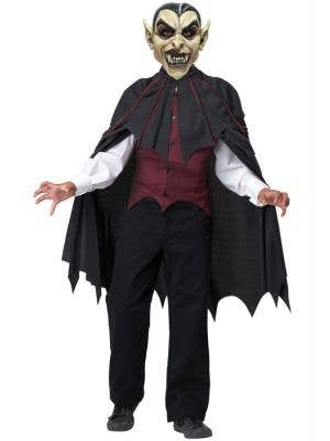 Dracula Boy's Vampire Monster Halloween Fancy Dress Front