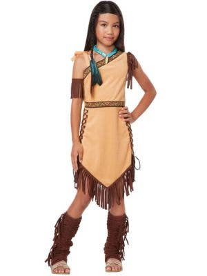 Girl's Pocahontas American Indian Costume Front View