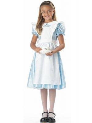 Girl's Alice in Wonderland Fancy Dress Costume Front View