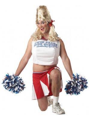 Men's Novelty Cheerleader Fancy Dress Costume Main