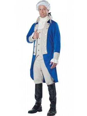 Men's George Washington Fancy Dress Costume