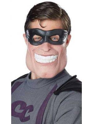 Funny Super Dude Adult's Latex Superhero Mask