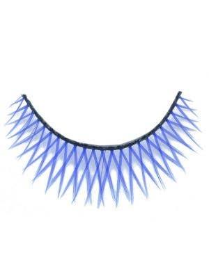 Cross - Hatched False Eyelashes in Blue