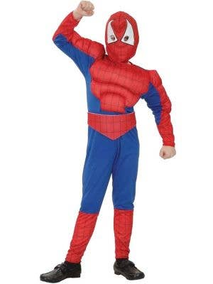 Boys Spiderman Muscle Chest Book Week Costume Front View