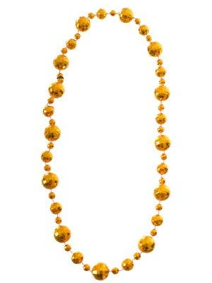 Disco Ball Gold 1970's Necklace Costume Accessory