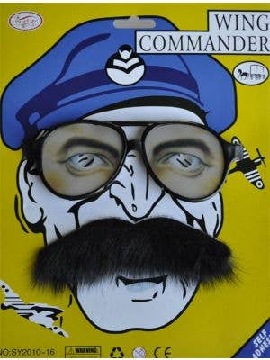 Wing Commander Glasses and Moustache Set
