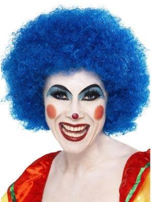 Clown Fancy Dress Women's Blue Wig