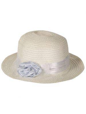 1950's Women's Cream Race Day Costume Hat