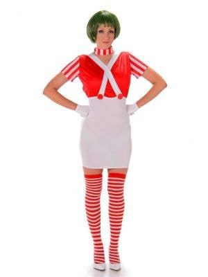 Women's Sexy Oopa Loompa Costume Main Image