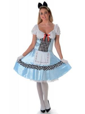 Women's Classic Alice In Wonderland Costume Main Image
