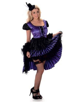 Women's Purple Can Can Dancer Costume Main Image