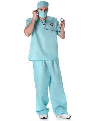 Men's Doctor Surgical Scrubs Fancy Dress Costume
