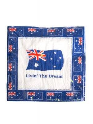 Australia Day Australian Anthem Party Serviettes