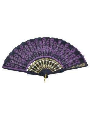 Chinese Folding Fan - Purple