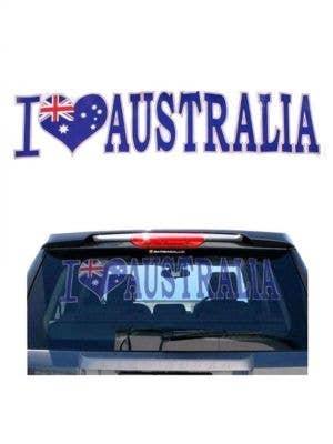Australia Day Car Window Sticker Front View