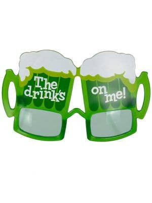 The Drink's On Me Irish Costume Glasses