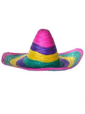 Multicoloured Mexican Sombrero Costume Hat