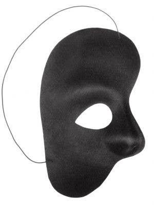 Men's Black Phantom Of The Opera Over Eye Masquerade Mask