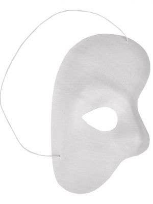 Simple White Phantom Of The Opera Over Eye Mask