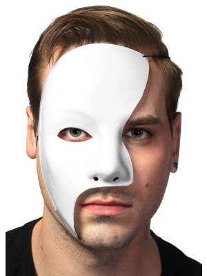 Men's White Phantom of the Opera Masquerade Mask