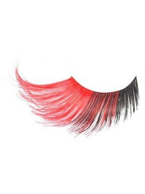 Adults Jumbo Red And Black Halloween Costume Eyelashes Main Image