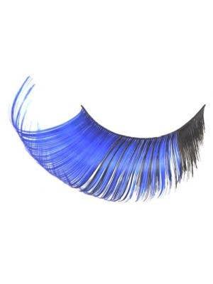 Extra Long Black And Blue Halloween Costume Eyelashes Main Image