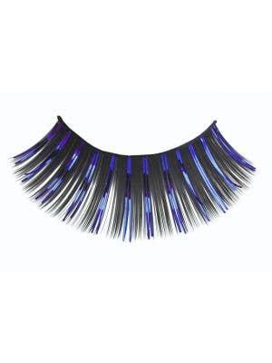 Long Black And Blue Tinsel Highlight costume Eyelashes Main