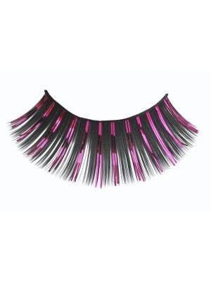 Pink And Black Women's Long Costume Eyelashes Main Image