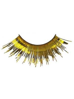 Gold Tinsel Metallic Costume Eyelashes Main Image