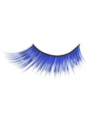 Novelty Blue Costume Eyelashes With Tinsel Highlights Main
