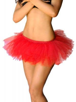 Adorable Red Fluffy Tutu Petticoat View 1