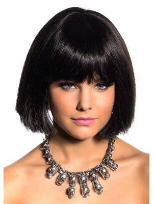 Cleo Blunt Cut Black Bob Deluxe Fashion Wig