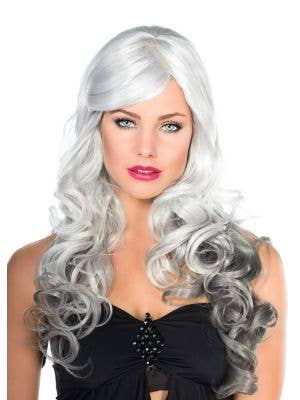 Ada Deluxe Grey Curly Fashion Wig