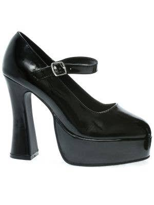 Chunky Heel Women's Black Mary Jane Costume Shoe