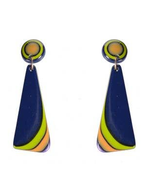60's Mod Triangle Retro Drop Costume Earrings