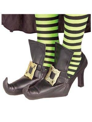 Halloween Witch Black Shoe Covers