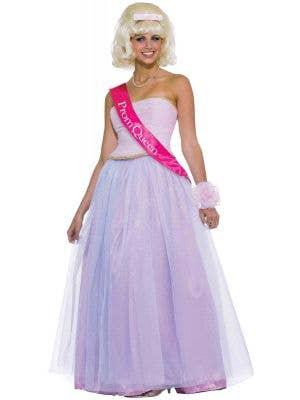 Pink Prom Queen Women's Retro Fancy Dress Costume Front