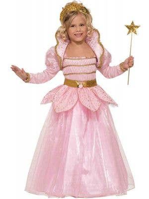 Girl's Pink Princess Fairytale Costume Front View