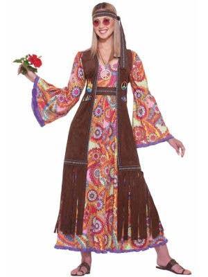 60's Women's Hippie Costume Dress Main Image